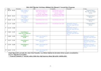 2014-2015 / Güz Ders Programı