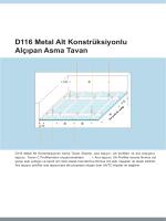 D 116.indd - Teknika Yapı, Asma Tavan, Metal Asma Tavan