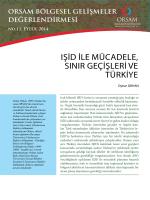 IŞİD İLE MÜCADELE, SINIR GEÇİŞLERİ VE TÜRKİYE