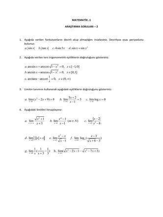 Araştırma Soruları-2