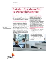 E-defter Uygulamaları ve Danışmanlığımız
