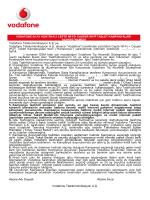 Abone Adı Soyadı: Abone İmza: Vodafone Telekomünikasyon A.Ş