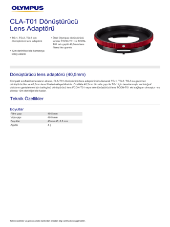 CLA‑T01 Dönüştürücü Lens Adaptörü