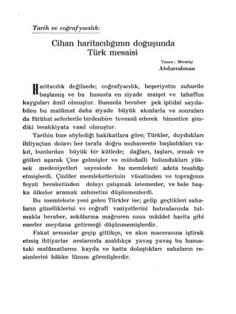 10.Cihan Haritacılığının Doğuşunda Türk Mesaisi