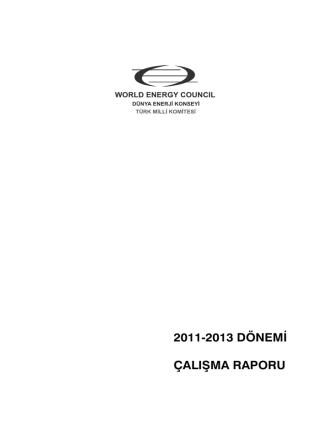 Çalışma Raporu 2011 - Dünya Enerji Konseyi Türk Milli Komitesi