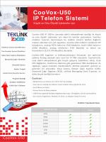 CooVox-U50 IP Telefon Sistemi