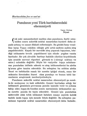 7.Pusulanın Yeni Türk Haritalarındaki Ehemmiyeti
