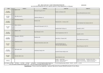 2014-2015 Güz Vize Sınav Programı