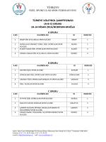 TÜRKİYE TÜRKİYE VOLEYBOL ŞAMPİYONASI (A-B