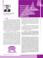 KDV - Dr.Ahmet Ozansoy