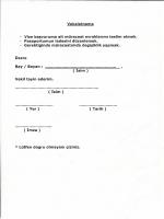 Vekaletname - Vize başvuruma ait müracaat evraklarımı