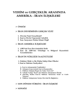 VEHİM ve GERÇEKLİK ARASINDA AMERİKA