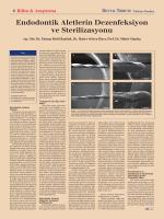 Endodontik Aletlerin Dezenfeksiyon ve Sterilizasyonu