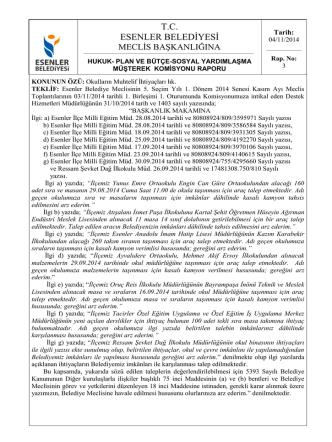 04/11/2014 Okulların Muhtelif İhtiyaçları hk.