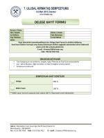 delege kayıt formu - 7. Ulusal Kırmataş Sempozyumu