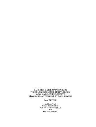 2-ALKOKSİ-4-ARİL-5H-İNDEN[1,2-b] PİRİDİN-3