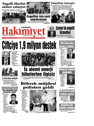 (3 aral\375k.qxd) - Çorum Hakimiyet Gazetesi