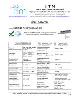 KELI SQB-A LOAD CELL - TTM Teknoloji Tasarım Merkezi