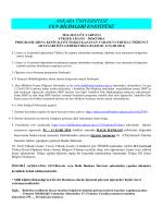 2014-2015 Eğitim-Öğretim Yılı Güz Yarıyılı Lisansüstü Programlara
