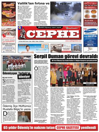 23.01.2015 Tarihli Cephe Gazetesi