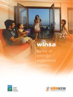 Winsa PVC Pencere • Kapı ve Panjur Sistemleri Farklı tasarımları ile