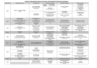 avrasya üniversitesi shmyo 2014/2015 güz dönemi bütünleme