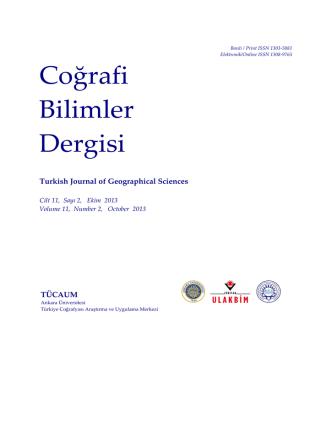 Coğrafi Bilimler Dergisi - Ankara Üniversitesi Dergiler Veritabanı