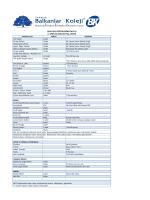 2014-2015 eğitim öğretim yılı 2. sınıflar için ihtiyaç