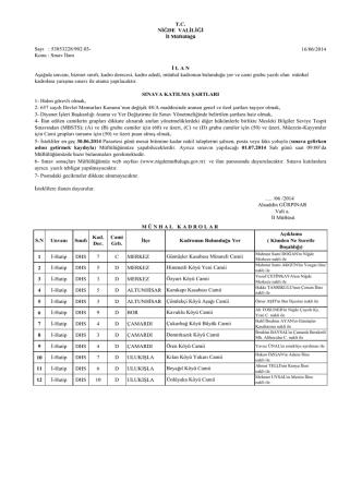 16/06/2014 1 İ-Hatip DHS 7 C MERKEZ 2 İ-Hatip