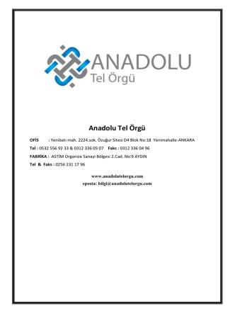 Anadolu Tel Örgü