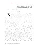 Süleyman ULUDAĞ* CÂMÎ ureddin Abdurrahman bin Ahmed bin