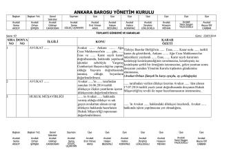 23 temmuz 2014 tarihinde yapılan yönetim kurulu