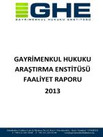 ghe 2013 çalışmaları - Gayrimenkul Hukuku Enstitüsü