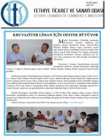 Sayı- 35 - Fethiye Ticaret ve Sanayi Odası
