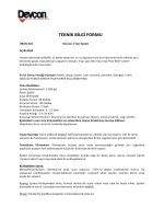 TEKNİK BİLGİ FORMU - Metsan Yapıştırıcı