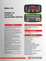 DKG 116 Tanıtım Dökümanı - İndir