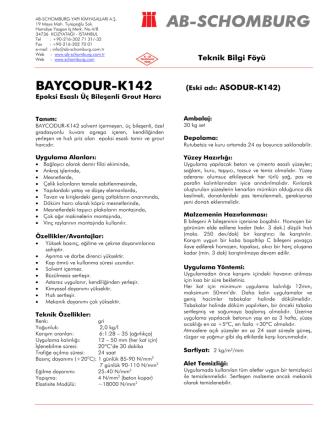 BAYCODUR-K142 (Eski adı: ASODUR-K142) - ab