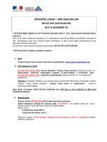 RESUME DAP BLANCHE_Üniversite 1 sinif Basvurulari 2014-15