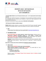 1. Üniversite 1. sinif Basvurulari PROSEDURU 2014-15