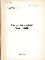 iCRA ve iFLAS KANUNU