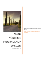 Nesne Yönelimli Programlama Temelleri Kitabı