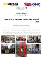 TEACHER TRAINING + LONDRA DENEYİMİ