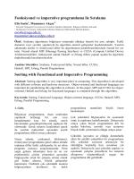 Fonksiyonel ve imperative programlama ile Sıralama Sorting with