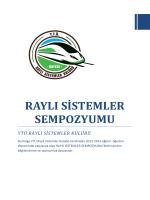 raylı sistemler sempozyumu - Yıldız Teknik Üniversitesi