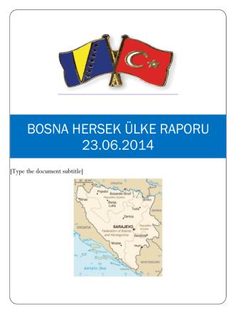 bosna hersek ülke raporu 23.06.2014