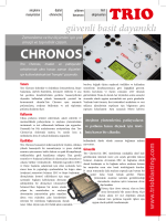 E-Broşür indirin - Trio Electronics Ltd