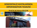 Hemodiyaliz hastalarında hipertansiyon tedavisi