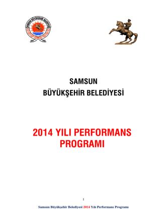 2014 Yili Performans Programi - Samsun Büyükşehir Belediyesi