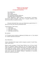 Malatya 12 Adet Tesisin - Devlet Su İşleri Genel Müdürlüğü