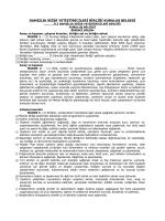 İl Birliği Kuruluş Belgesi - Türkiye Damızlık Sığır Yetiştiricileri Merkez